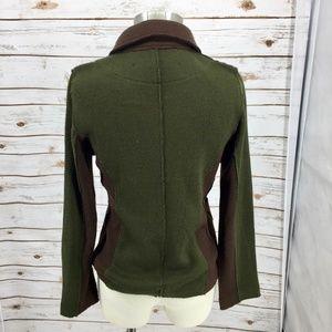 Curio New York Sweaters - Curio cardigan sweater knit blazer military style